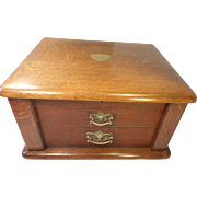 Large Oak Desktop Collectors Chest of Drawers ,