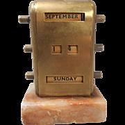 Desktop Perpetual calendar , Brass on Marble base
