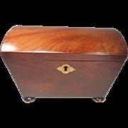 Antique Mahogany Tea Caddy