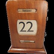 Vintage Desktop Perpetual Calendar