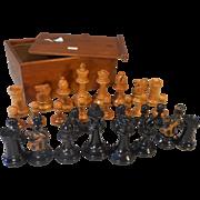 Antique Boxwood Chess Set