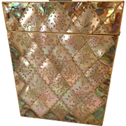 Antique Mother of Pearl & Abalone Card Case