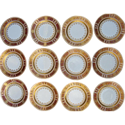 12 Royal Vienna Dinner Plates with Star of David Border c. 1900