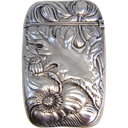 Art Nouveau Sterling Silver Match Safe by R. Wallace and Sons