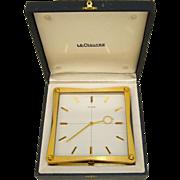 Rare LeCoultre Mid-Century Partners Clock in Original Box