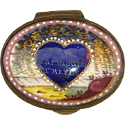 Late 18th C. English Enamel Snuff Box : 'A Yarmouth Trifle'