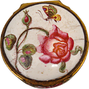 Mid 18th c. English Battersea Enamel Snuff Box