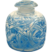 R. Lalique 'Epines' Perfume Bottle with Blue Staining c. 1920