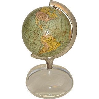 Small Table Top Globe by American Globe and School Supply Co. with Gores by Rand McNally, Copyright of 1891