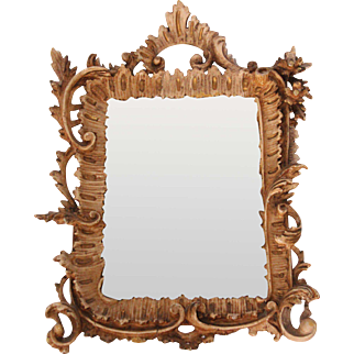 19th Century Wood Carved Rococo Revival Mirror