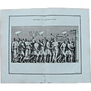 "18th Century Copper Engraving of Ancient Roman Scene ""Plunder of the temple"" from L'antiquité expliquée et représentée en figures by Bernard de Montfaucon"