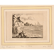"17th Century Copper Engraving ""The Tide"""