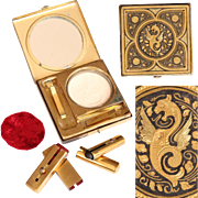 Vintage Dragon Make Up Compact - Lipstick, Rouge & Eyeliner