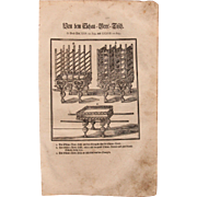 18th Century Woodcut Print of  Shulchan or The table of showbread from a 1753 Martin Luther Bible