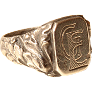 19th Century Stunning Victorian Signet Ring GE / EG
