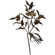 Victorian Lapels Bouquet Pin for 25th Wedding Anniversary from Germany - Sterling Silver