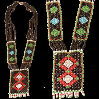Handmade Native American Bead Necklace - Beadwork Jewelry in Southwestern Design
