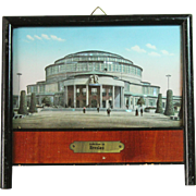 1910's Memory Picture of Centennial Hall in Breslau (Wrocław) with Mother of Pearl