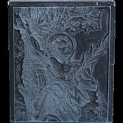 19th Century Printing Block / Cliché Saint Sebastian - Steel Engraving Stereotype