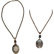 """Sterling Silver """"Coin in Spoon"""" Rope Chain Necklace - featuring a 19th Century 1/2 Mark Coin from German Empire"""