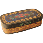 1900's Stunning Hat Box / Bonnet Box from Kassel Germany / Wood / Hand Painted