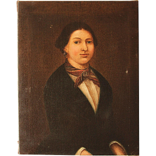 19th Century Oil Painting on Canvas from Germany Biedermeier circa 1820