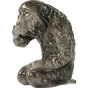 "1910's ""Speak no Evil"" Monkey by Kalk Eisenberg - Porcelain Art Nouveau  Iwazaru Figurine"