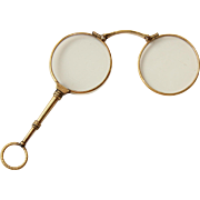 1910's Lorgnette Gold filled - Museum quality Opera Glasses