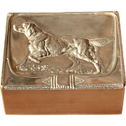 Art Nouveau WMF Cigarette Box designed under Albert Mayer - Silver plated Case from circa 1910