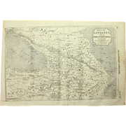 1854 Original Map of the Caucasus - Antique Steel Engraving