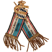 """Original Pin """"In Treue fest"""" from Bavarian Military Club from circa 1915"""