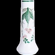 1900's Art Nouveau Vase with hand painted flower Decor - Opalesque Glass
