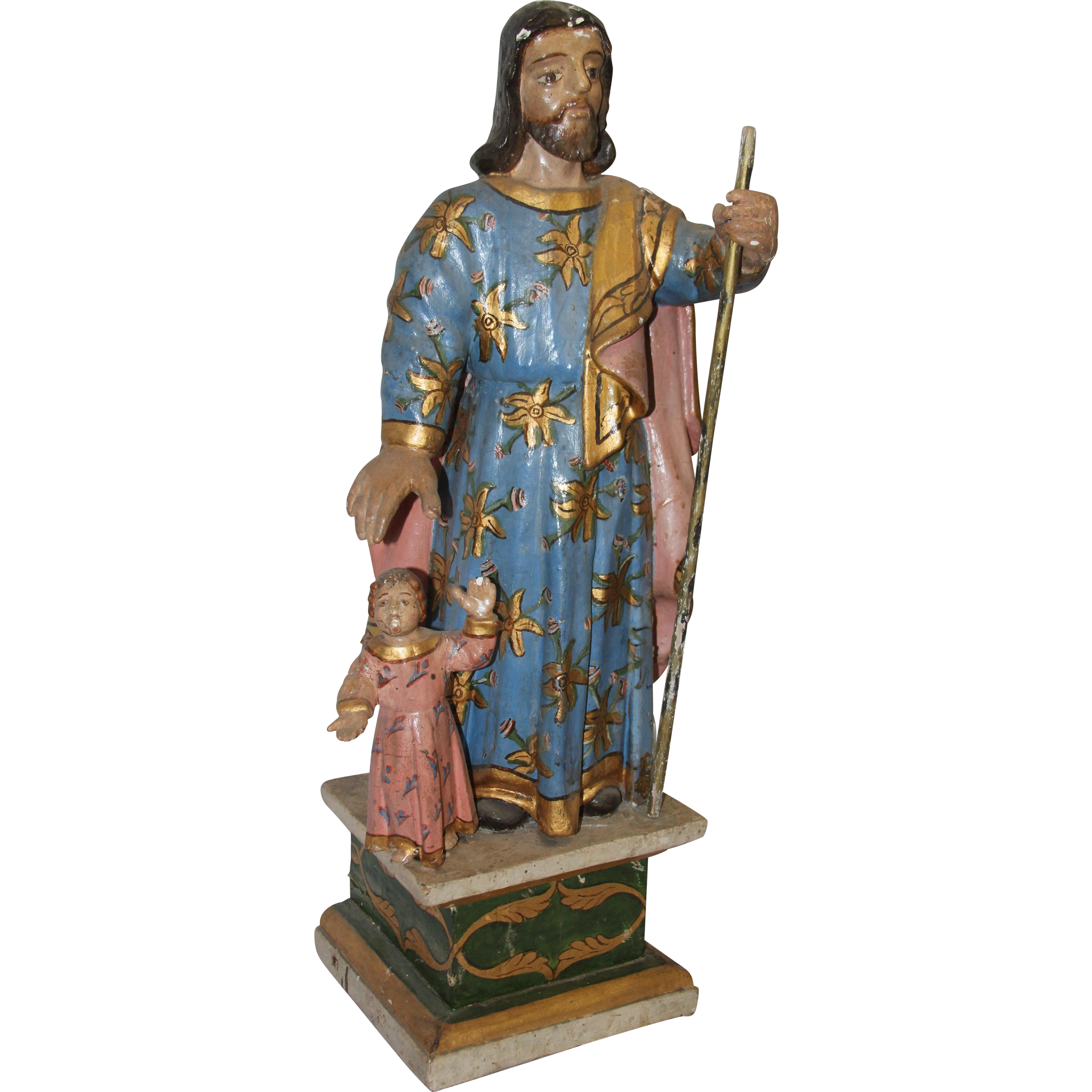 17th - 18th Century Sculpture of St. Joseph with Jesus ...