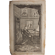 Rare 18th Century Copper Engraving of Martin Luther and his family