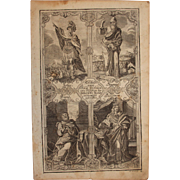 Rare 18th Century Copper Engraving of The Important Persons from the Historical Books of the old Testament
