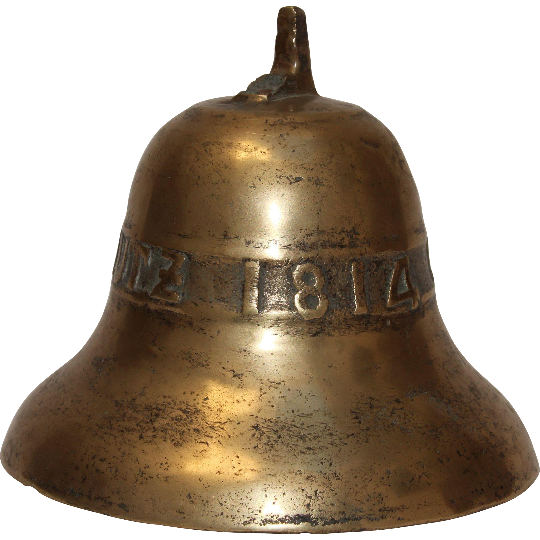 1814 original antique german bronze bell 19th century. Black Bedroom Furniture Sets. Home Design Ideas