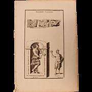 18th Century Copper Engraving of Ancient Soldiers from Gauls - L'antiquité expliquée et représentée en figures by Bernard de Montfaucon