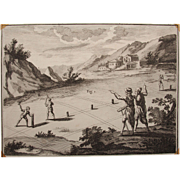 "17th Century Copper Engraving ""Land Surveying"""
