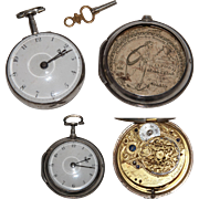 1796 Sterling Silver Paircase Verge Pocket Watch by And Bateman from London