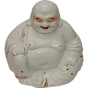 Large early 20th Century Buddha / Budai Chinese Porcelain Sculpture