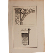 "18th Century Copper Engraving ""Arch of Cavaillon"" from L'antiquité expliquée et représentée en figures by Bernard de Montfaucon"