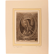 "17th Century Copper Engraving of ""Mater Amabillis"""