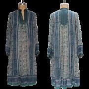 1970s Vintage Indian Cotton Gauze Dress