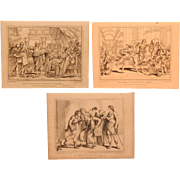 1815 / 1816 Set of Copper Engravings of Bible Scenes - 19th Century Prints of Temple, Daniel & Tobias