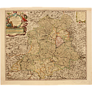 18th Century Map of Palatinate Region of Bavaria / Germany Ober-Pfalz (Nicolaum Visscher)