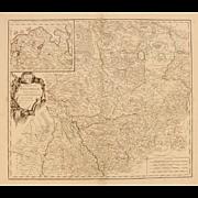 18th Century Map showing Westphalia in Germany by Robert de Vaugondy 1751
