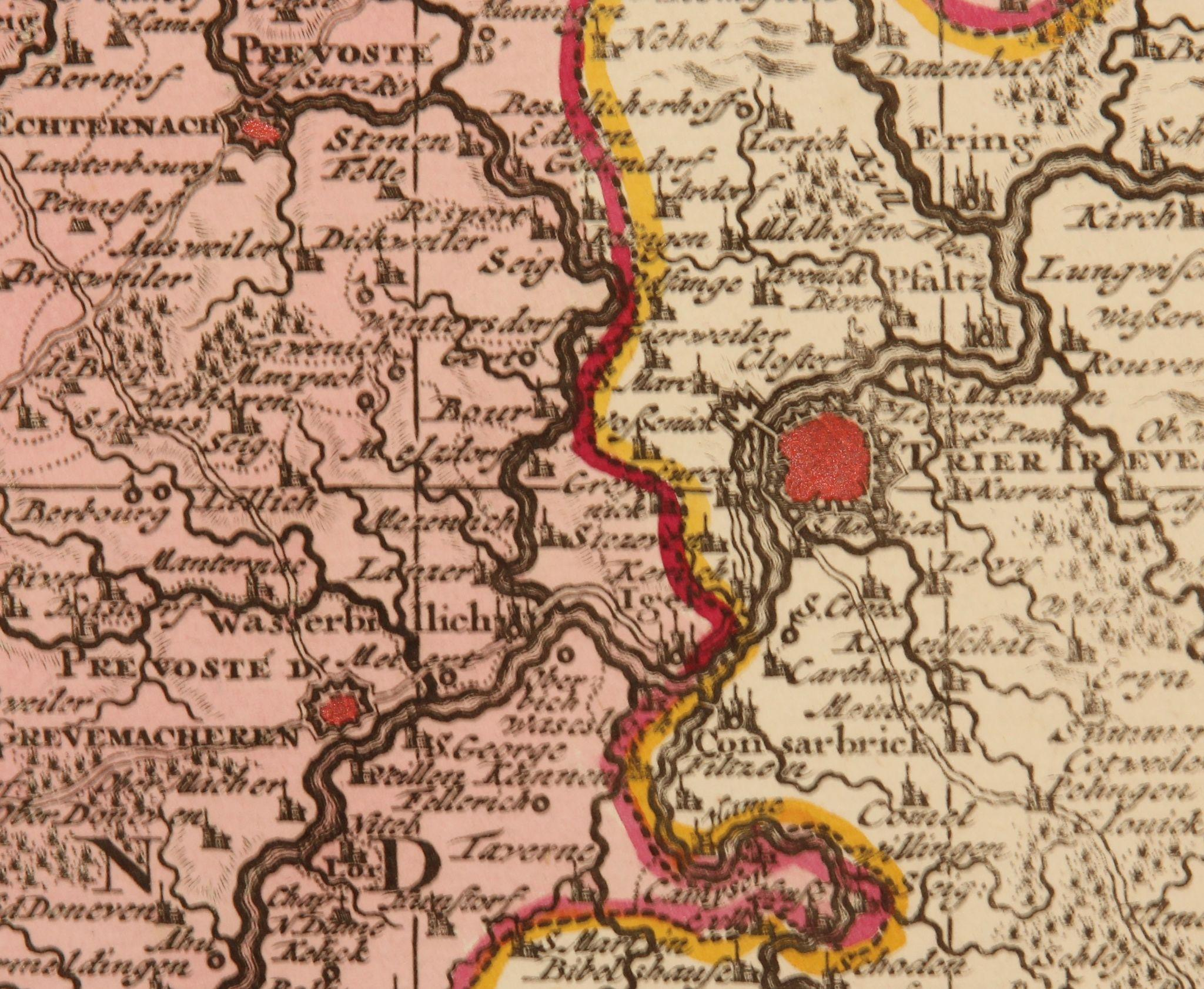17th Century Antique map of Luxembourg and the surrounding Area – Map of Belgium and Surrounding Areas