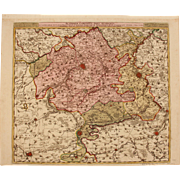 17th Century Antique map of South Flanders - Belgium - by Visscher N. II (1695)
