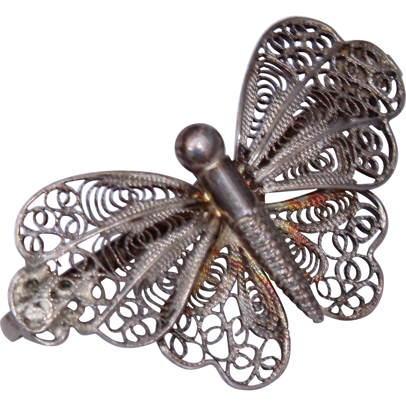 Vintage Silver Butterfly 13