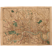 "19th Century Pocket Map of London ""WYLDS NEW PLAN OF LONDON for 1858"" by James Wyld - Red Tag Sale Item"